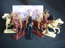 TSSD Western Plains Indian Warriors Plastic Figures Set 14
