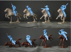 LOD Western Mexican Bandits Mounted Plastic Figures Set