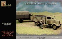 Pegasus 1/72nd Scale WWII German Army Trucks Model Kit