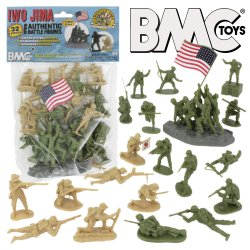 BMC Iwo Jima  Marines & Japanese Plastic Soldiers 34 Pc Set