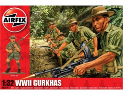 1/32nd Scale Airfix World War II Gurkhas Infantry Figures Set