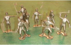 Marx Re-Issue Set Of Gold Medieval Plastic Knights