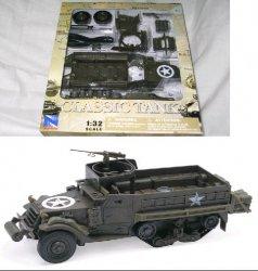 New Ray 1/32nd World War II U.S. Army M3A2 Half Track Plastic Model Kit