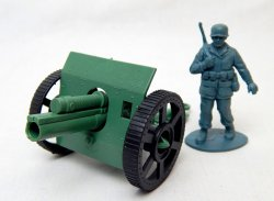WWII Type Army Cannon With Armor Plated Front