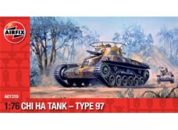 Airfix 1/72nd Scale WWII Japanese Chi-Ha Type 97 Tank Plastic Model Kit