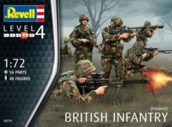 Revell 1/72nd Scale Modern British Infantry Plastic Soldiers Set 2519