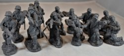 TSSD 1/32nd Scale World War II German Elite Troops Plastic Soldiers Set
