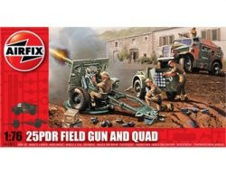 Airfix 1/72nd Scale WWII 25 Pdr Field Cannon & Quad Model Kit