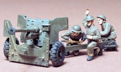 Tamiya 1/35 British 6-Pdr Anti-Tank Gun Plastic Model Kit 35005