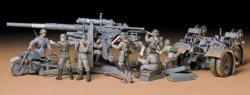 Tamiya 1/35 German 88mm Flak 36/37 Gun Plastic Model Kit 35017