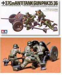 Tamiya 1/35 German 3.7cm PaK 35/36 Anti-Tank Gun Plastic Model Kit 35035