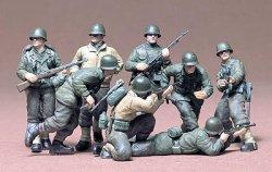 Tamiya 1/35 US Gun & Mortar Team (8) Soldiers Plastic Model Kit 35086