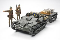 Tamiya 1/35 French Armored Carrier w/ Trailer & Figures Plastic Model Kit 35284