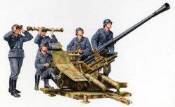 Tamiya 1/35 German 3.7cm Flak 37 AA Gun w/5 Crew Plastic Model Kit 35302