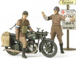 Tamiya 1/35 British BSA M20 Motorcycle w/Rider & MP Plastic Model Kit 35316