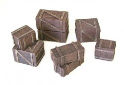Pegasus Multi-Scale for 1/72-1/32 Wooden Boxes & Crates Painted 5212