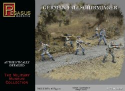 Pegasus 1/72nd Scale WWII German Paratroopers Plastic Soldiers Set No 7224.