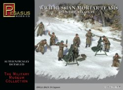 Pegasus 1/72nd Scale WWII Russian Mortar Teams Plastic Soldiers Set No. 7273