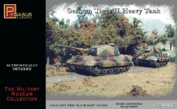 Pegasus 1/72nd Scale WWII German Tiger II Heavy Tanks Set No. 7627