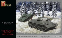 Pegasus 1/72nd Scale WWII Russian T34 / 76 Tank Model Kit Set no. 7661