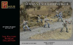 Pegasus 1/32nd Scale WWII German Fallschirmjager Paratroopers Set 3204