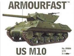 Armourfast 1/72nd Scale WWII US M10 Tank Kit # 99004