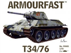 Armourfast 1/72nd Scale WWII Russian T34/76 Tank Kit # 99005