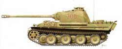 Armourfast 1/72nd Scale WWII German Panther Ausf G Tank Kit # 99024