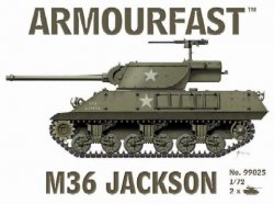 Armourfast 1/72nd Scale WWII US M36 Jackson Tank Kit # 99025