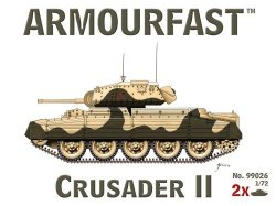 Armourfast 1/72nd Scale WWII British Crusader II Tank Kit # 99026