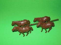 IMEX American Civil War Western Horse Team