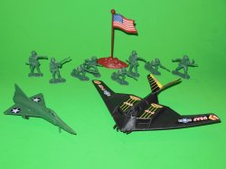 Stealth And Jet Fighter Soldiers Plastic Combat Set 76805