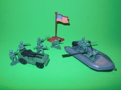 Army Combat Plastic Assault Raft And Accessories Set 76810