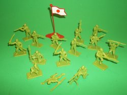 Armies Of The World Plastic Japanese Soldiers Set