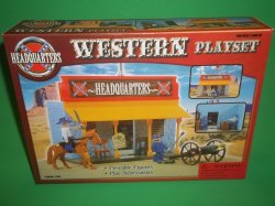 American West Plastic Army Headquarters Town Building