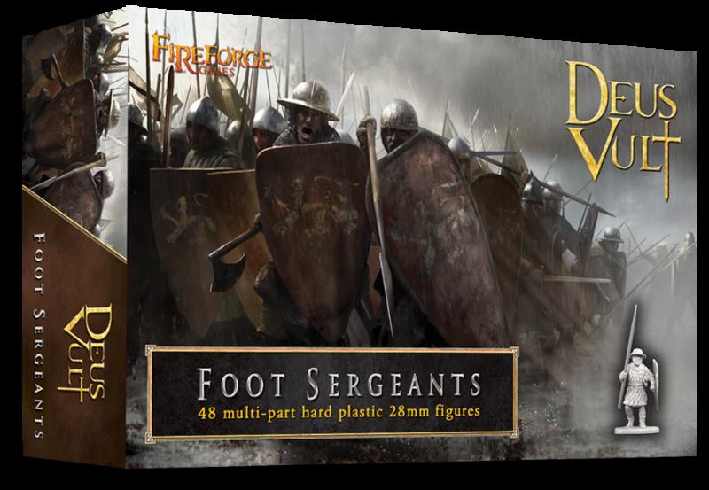 Fireforge Games 28mm Deus Vult Foot Sergeants (48) G4