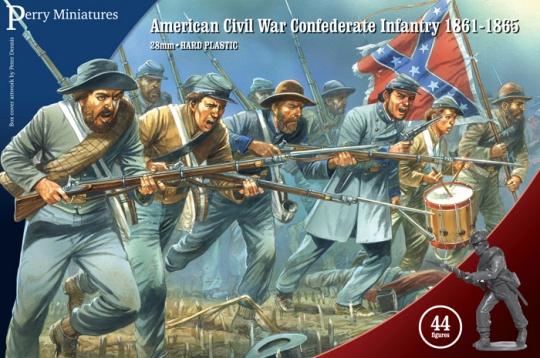 28mm American Civil War Confederate Infantry