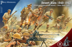 Perry Miniatures 28mm British & Commonwealth Infantry Desert Rats 1940-43 601