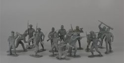 Marx Recast 54mm Confederate ACW 7th Cavalry Soldiers Set