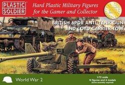 Plastic Soldier Co 1/72 WWII British 6-Pdr Anti-Tank Gun w/Loyd Carrier 7226