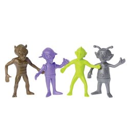 Alien Creature Invaders 12 Rubber Figures Set