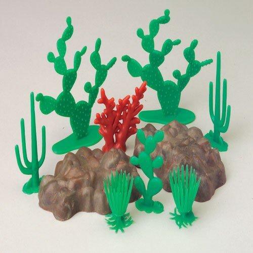Desert Landscape 10 Piece Cactus And Rocks Diorama Set