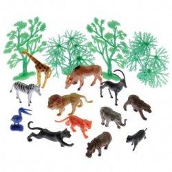Wild Nature Animals And Landscape 16 Pc Plastic Set