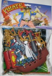 Hing Fat Deluxe Pirates And Accessories Plastic Figures Set