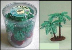 Plastic Palm Trees 3 Pc Set