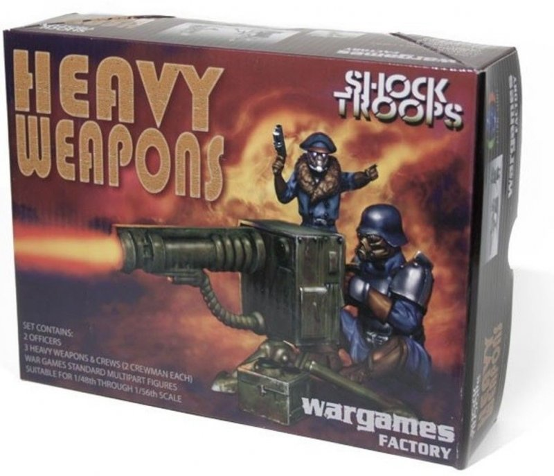 Image 0 of Wargames Factory 28mm Alien Suns: Greatcoat Shock Troopers w/Heavy Weapons (12)