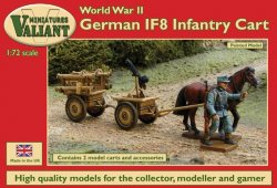 Valiant Miniatures 1/72 WWII German IF8 Infantry Carts (2)