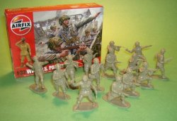 1/32nd Scale airfix WWII U.S. Paratroopers Plastic Soldiers Set