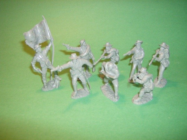 Image 0 of TSSD American Civil War Confederate Firing Line Plastic Soldiers Set 1