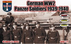 Orion Figures 1/72 WWII German Panzer Soldiers 1939-1940 Set 72058